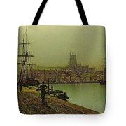 Gloucester Docks Tote Bag by John Atkinson Grimshaw