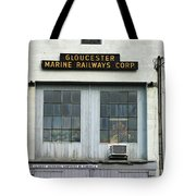 Gloucester Marine Railways Massachusetts Tote Bag