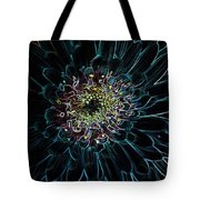 Glow Edge Flower Tote Bag