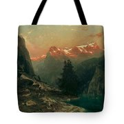 Glowing Alps Tote Bag
