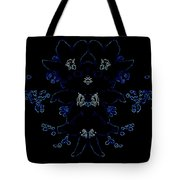 Glowing Blue Blossoms Tote Bag