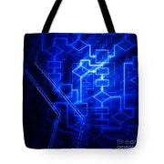Glowing Blue Flowchart Tote Bag