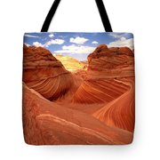 Glowing Butte At The Wave Tote Bag