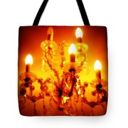 Glowing Chandelier Tote Bag