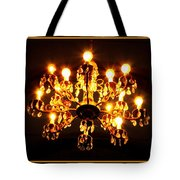 Glowing Chandelier With Border Tote Bag