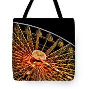 Glowing Ferris Wheel - Fractals Tote Bag by Ericamaxine Price