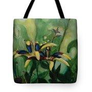 Glowing Flora Tote Bag