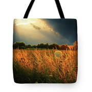 Glowing Grass Tote Bag