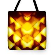 Glowing Honeycomb Tote Bag