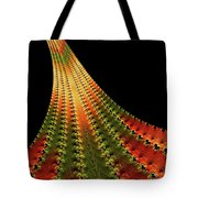 Glowing Leaf Of Autumn Abstract Tote Bag