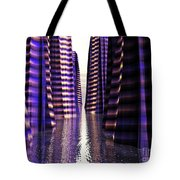 Glowing Lights Of An Electric Canyon Tote Bag