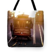 Glowing Magical Cable Cars On Nob Hill Tote Bag