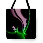 Glowing Night Flower Fractal Art Tote Bag