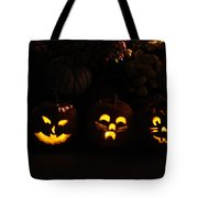 Glowing Pumpkins Tote Bag