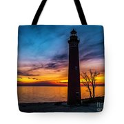 Glowing Sky At Little Sable Tote Bag