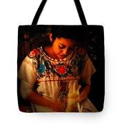 Glowing Woman Tote Bag