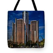 Gm And Marriot Monster In Detroit Tote Bag
