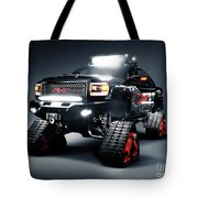 Gmc Pickup Truck On Snow Tracks Tote Bag