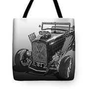 Go Hot Rod In Black And White Tote Bag