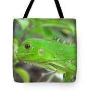 Go Iguana Green Tote Bag