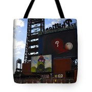 Go Phillies - Citizens Bank Park - Left Field Gate Tote Bag