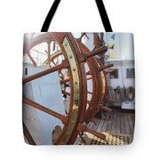 Steering Wheel Of Big Sailing Ship Tote Bag