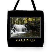 Goals Inspirational Motivational Poster Art Tote Bag
