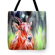 Goat From The Mountain Tote Bag