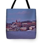 Goat Hill At Sunset In Winter Tote Bag