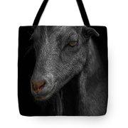 Goat In Red Barn Tote Bag