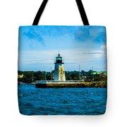 Goat Island Light House Tote Bag