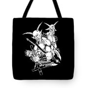 Goatlord And Baphomet Black Tote Bag