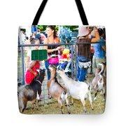Goats At County Fair Tote Bag