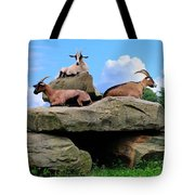 Goats On The Rock Tote Bag