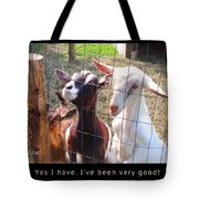 Goats Poster Tote Bag