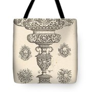 Goblet, Rim Decorated With Masque And Bouquet Of Fruit Tote Bag