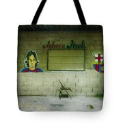 God And Futbol Tote Bag