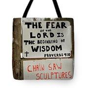 God And Saws Tote Bag