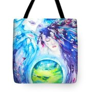 God, Goddess, Earth Ripple Effect Tote Bag