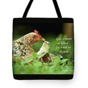 God Is Never At A Loss Tote Bag