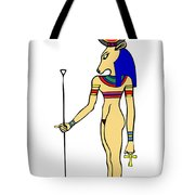 God Of Ancient Egypt - Hathor Tote Bag by Michal Boubin