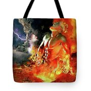 God Of Fire Tote Bag