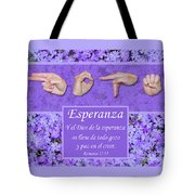 God Of Hope Spanish Tote Bag
