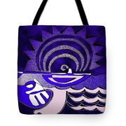 God Smiling On The Water Tote Bag