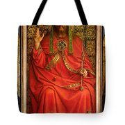 God The Father Tote Bag by Hubert and Jan Van Eyck
