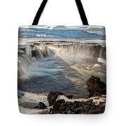 Godafoss Waterfall Tote Bag