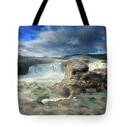 Godafoss Waterfall Iceland Tote Bag