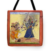 Goddess Bhadrakali Worshipped By The Gods. From A Tantric Devi Series Tote Bag