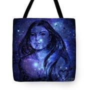 Goddess In Blue Tote Bag