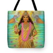 Goddess Lakshmi Tote Bag by Sue Halstenberg